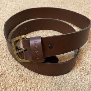 CARHARTT Journeyman genuine leather brown belt 44